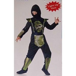 NEW Green Light-Up Dragon Ninja Halloween Costume